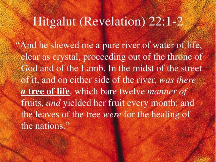 Hitgalut (Revelation) 22:1-2
