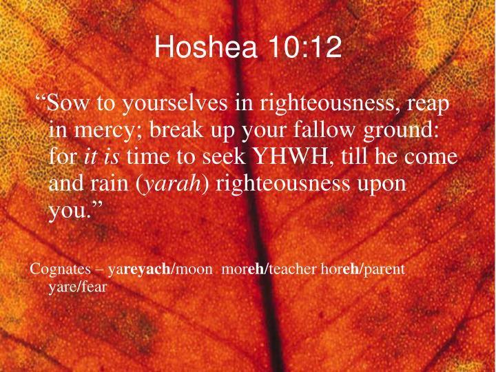 Hoshea 10:12
