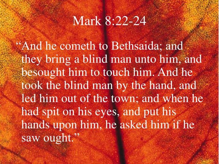Mark 8:22-24
