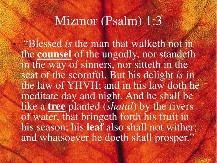 Mizmor (Psalm) 1:3
