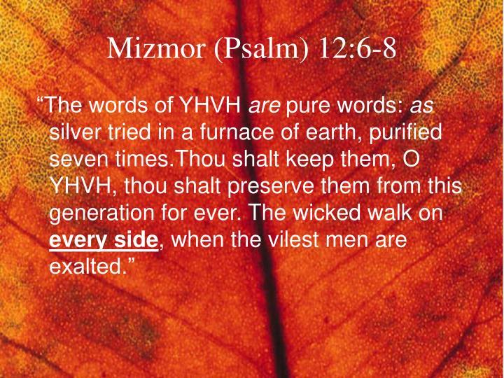 Mizmor (Psalm) 12:6-8