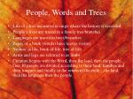 people words and trees