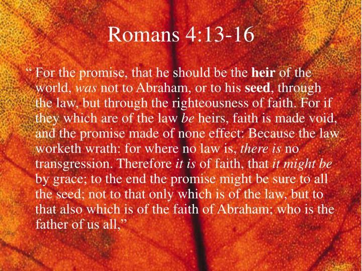 Romans 4:13-16