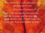 the adversary is all parts of a tree an instead of tree