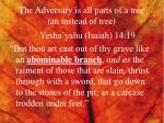 the adversary is all parts of a tree an instead of tree2