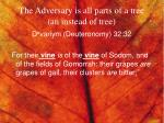 the adversary is all parts of a tree an instead of tree3