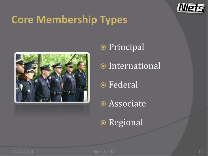 Core Membership Types