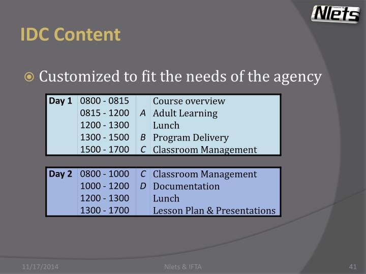 IDC Content