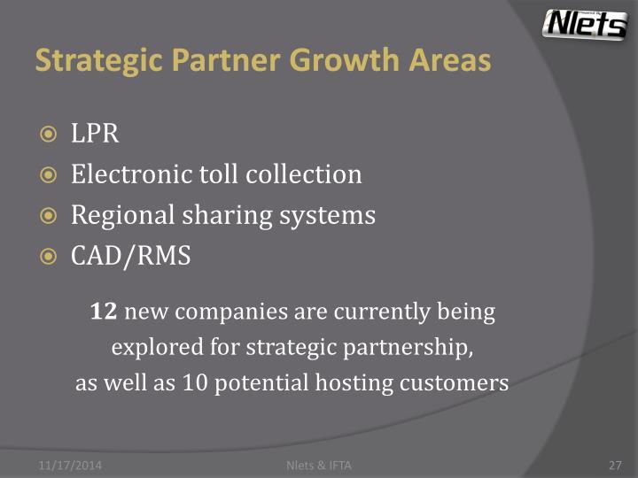 Strategic Partner Growth Areas