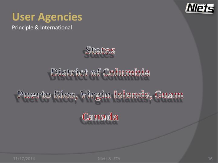 User Agencies