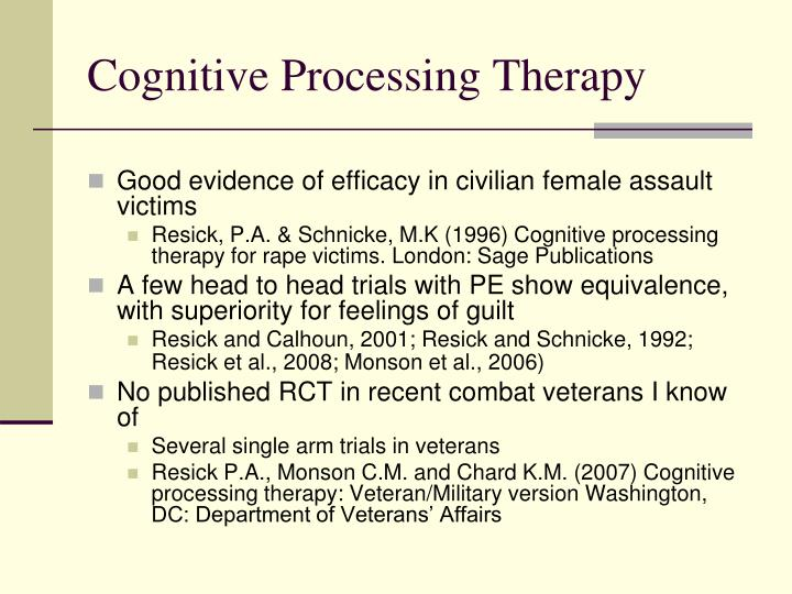 Cognitive Processing Therapy
