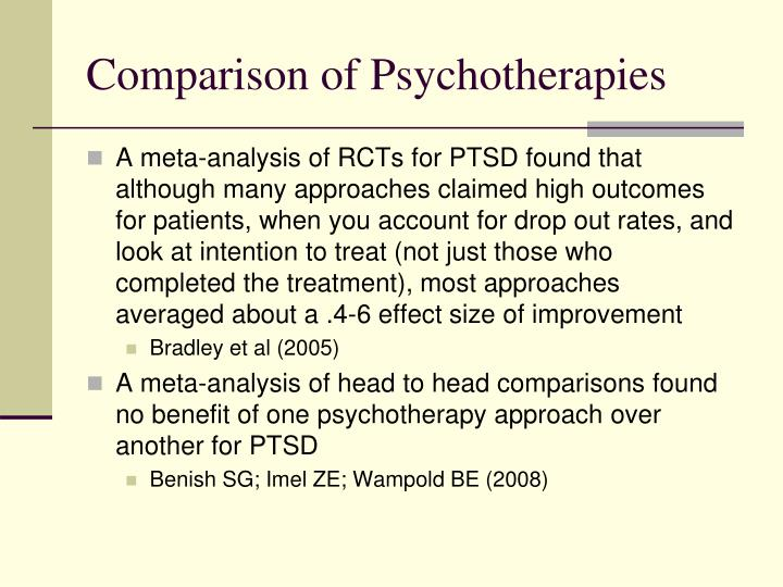 Comparison of Psychotherapies