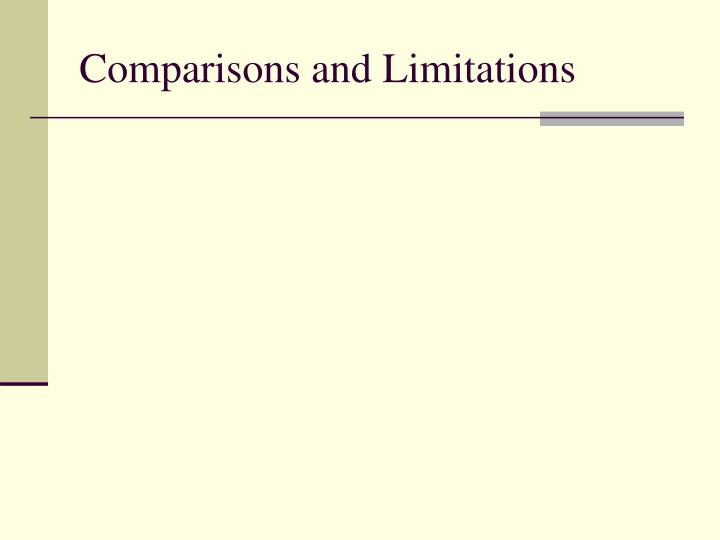 Comparisons and Limitations