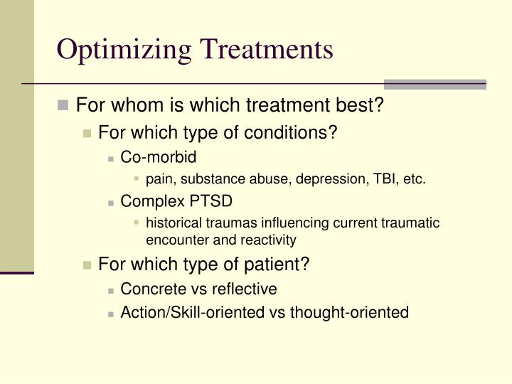 Optimizing Treatments