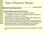 types of exposure therapy