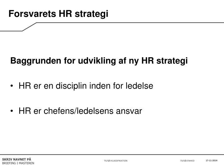 Forsvarets HR strategi