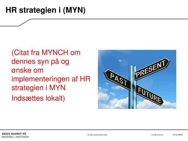 HR strategien i (MYN)