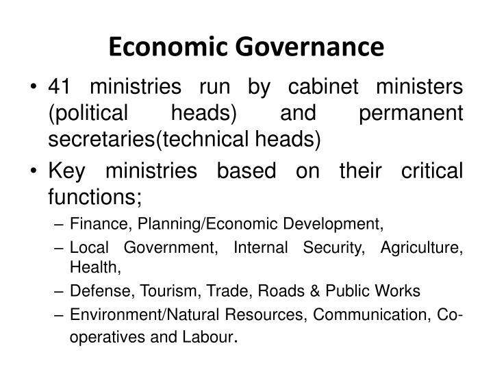 Economic Governance