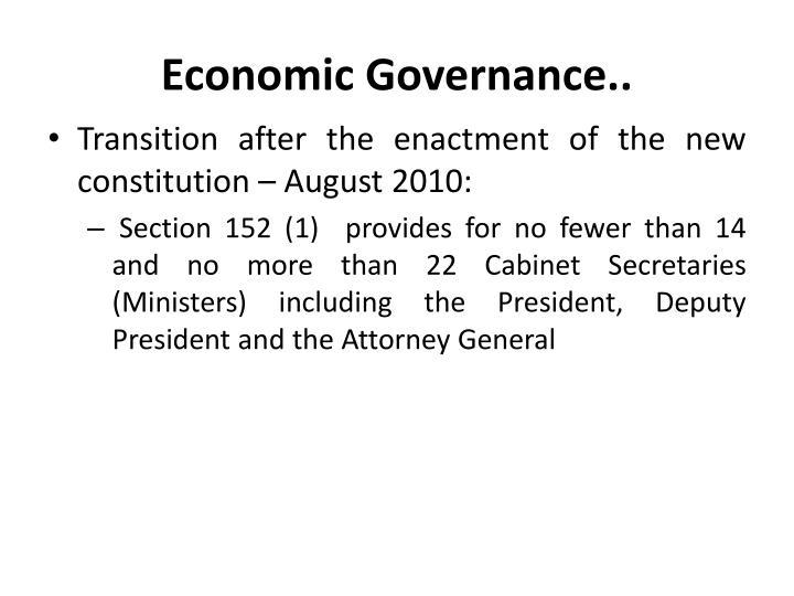 Economic Governance..
