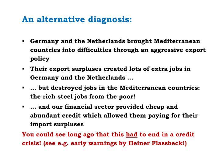 An alternative diagnosis: