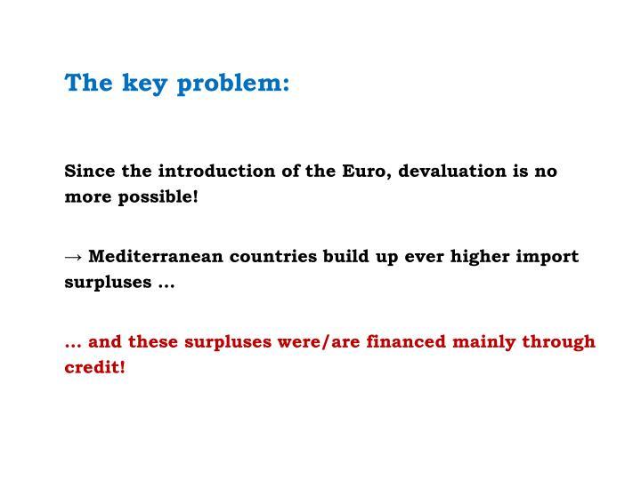 The key problem: