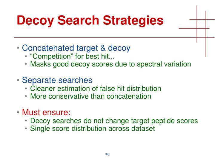Decoy Search Strategies