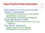 false positive rate estimation1