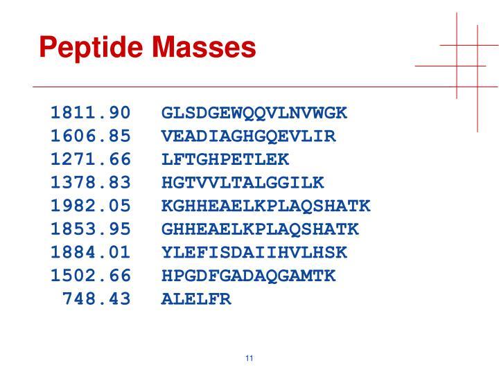 Peptide Masses