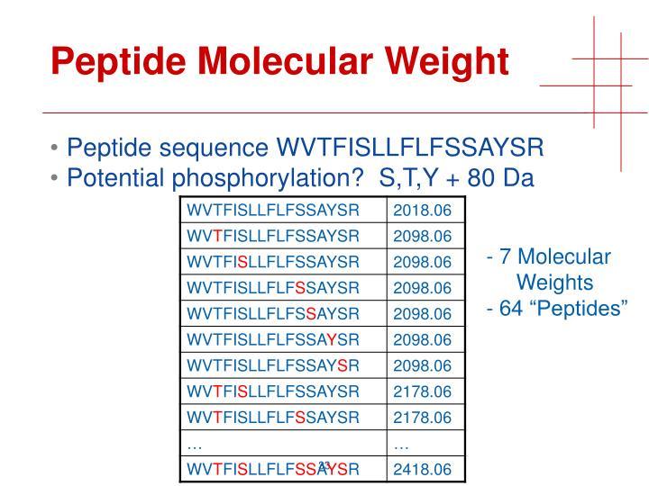 Peptide Molecular Weight