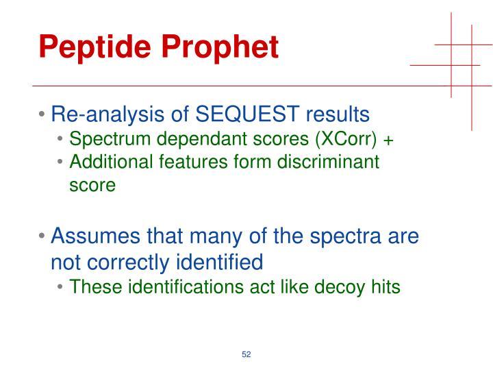 Peptide Prophet