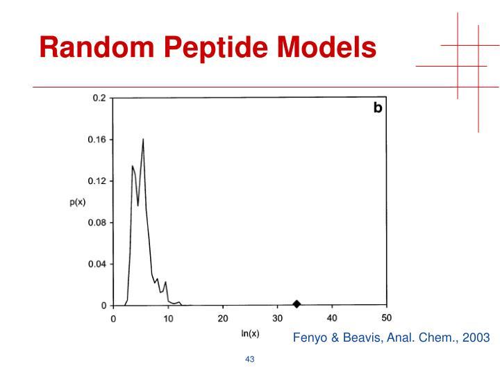 Random Peptide Models
