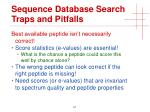 sequence database search traps and pitfalls2