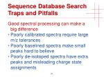 sequence database search traps and pitfalls4