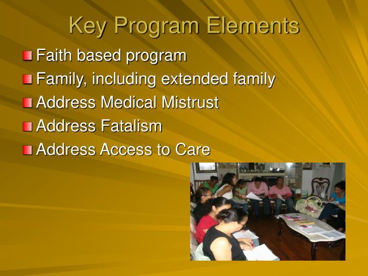 Key Program Elements