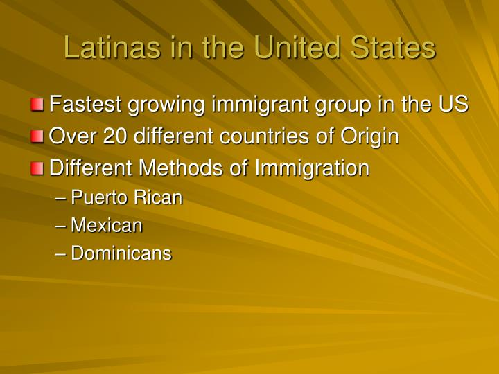 Latinas in the United States