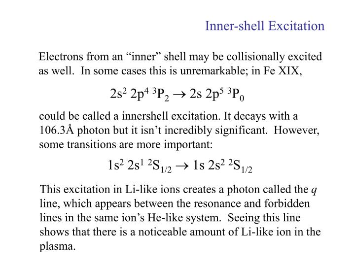 Inner-shell Excitation