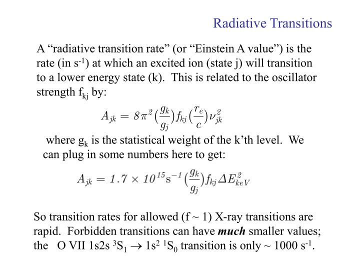 Radiative Transitions