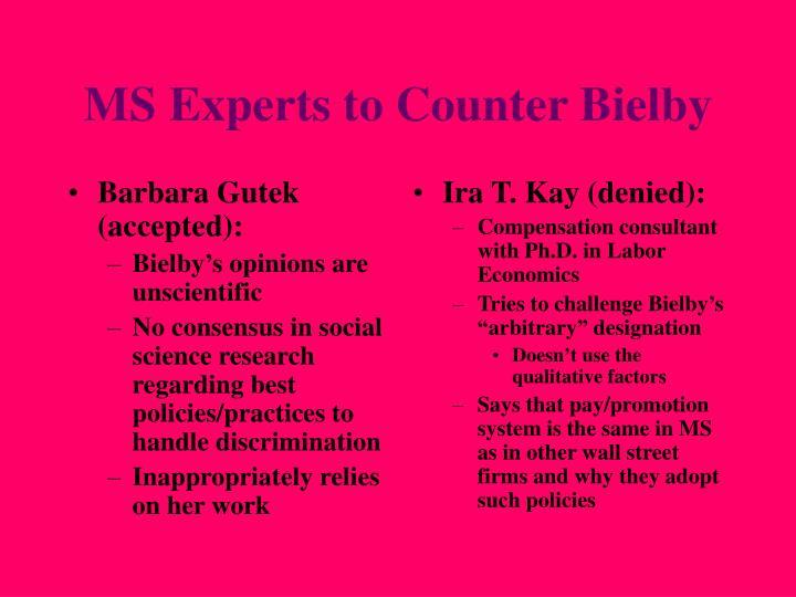 Barbara Gutek (accepted):