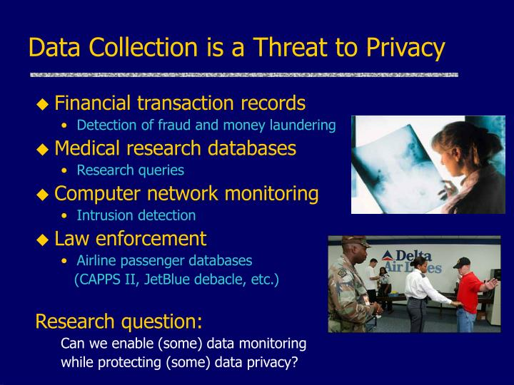 Data collection is a threat to privacy