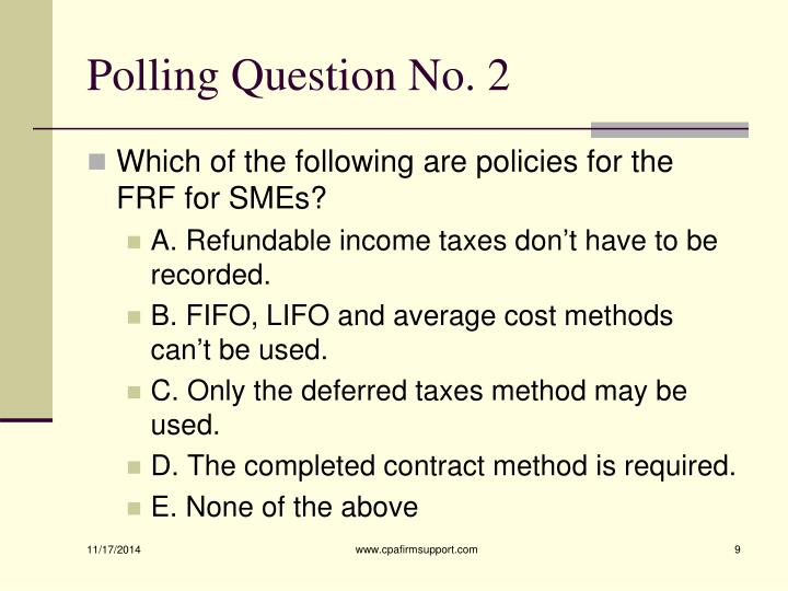 Polling Question No. 2