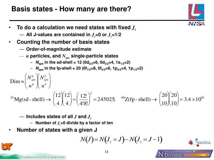 Basis states - How many are there?