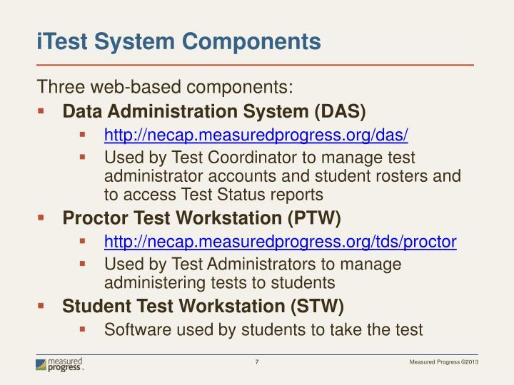 Three web-based components:
