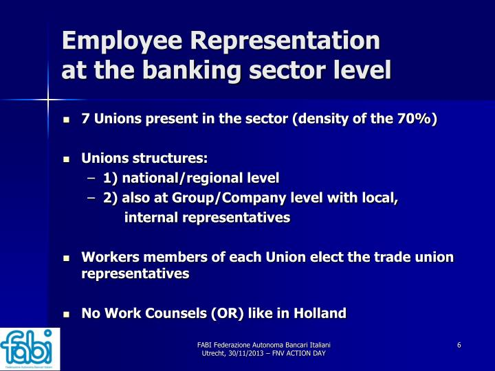 Employee Representation at the banking