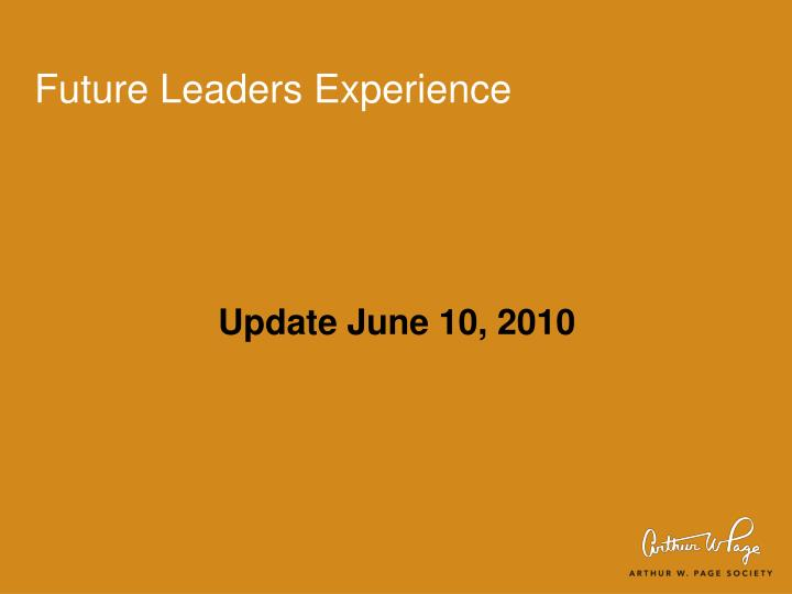 Future leaders experience