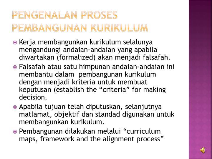 Pengenalan Proses Pembangunan Kurikulum