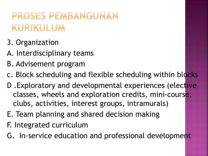 Proses pembangunan kurikulum