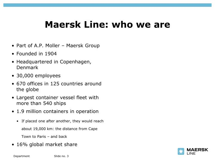 Maersk line who we are