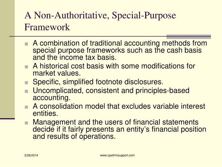 A Non-Authoritative, Special-Purpose Framework