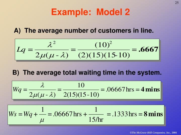 Example:  Model 2