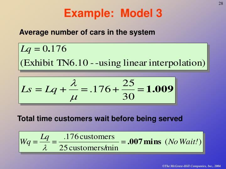 Example:  Model 3